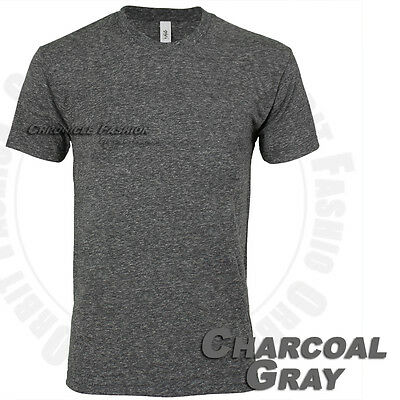 T Shirts Crew Neck Slim Fit Casual Plain Fashion Tri blend Cotton Tee Blank Men
