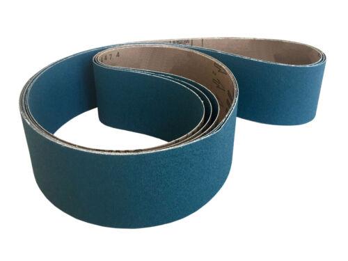 4 Pack, 60 Grit Sanding Belts 3 X 72 Zirconia Cloth Sander Belts