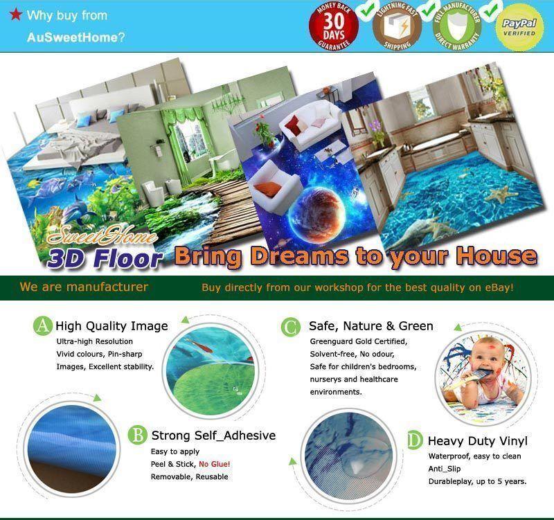 Best Best Best Beach Scenery Sea 3D Floor Mural Photo Flooring Wallpaper Home Wall Decal 53d14c