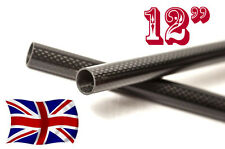 "2 x 15mm Carbon Fiber Rods / bars / tubes  DSLR Rig 12"" (any length on request)"