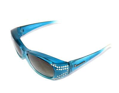 Figuretta Solare Attraverso Occhiali Uv400 Polarizzati Blu Strass Pubblicità Tv-mostra Il Titolo Originale