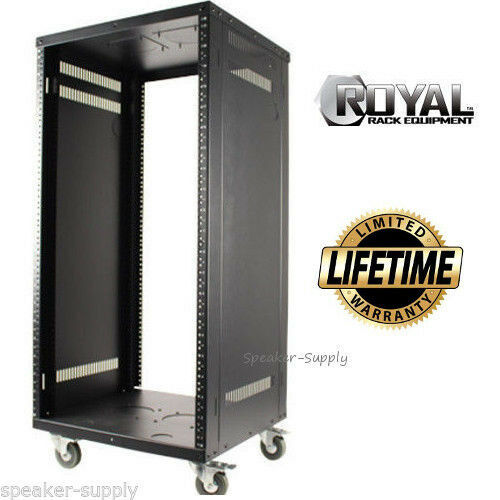 Royal Racks 21U Audio Video A V Audio Equipment Electronics Rolling Rack Casters