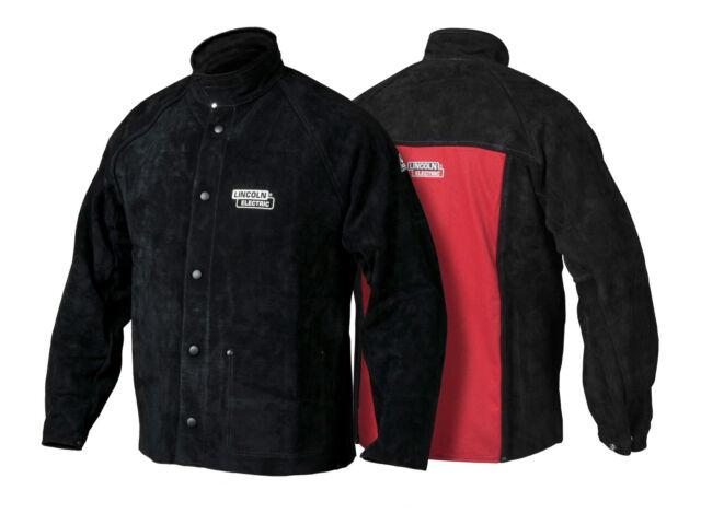 Lincoln Electric K2989 Heavy Duty Leather Welding Jacket Xl