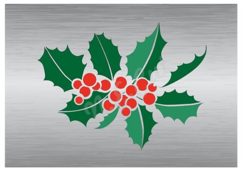 Christmas Holly Cluster stencil A5 to A0 14cm to 1.2 meters or bigger CMAS054