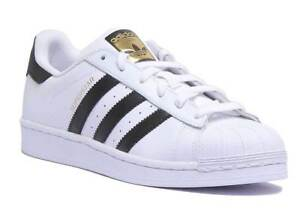 adidas superstar black white size 3