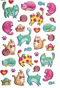 Kitty-Cat-Kitten-PUFFY-Stickers-Pets-Animals-Stickers-Planner-Papercraft-Journal