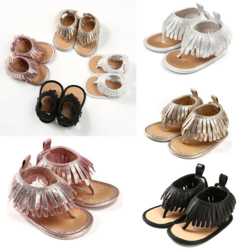 Toddler Baby Kids Girls Tassels Sandals Casual Shoes Sneaker Anti-slip Soft Sole