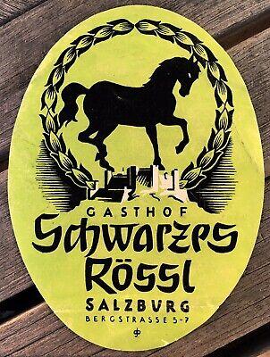 Label hotel luggage label Gasthof schwarzps rossl salzburg Bergstrasse 5-7