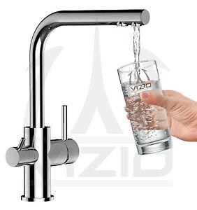 Rubinetto cucina 3 vie depuratore acqua osmosi filtro miscelatore lavello vizio ebay - Miscelatore cucina perde acqua ...