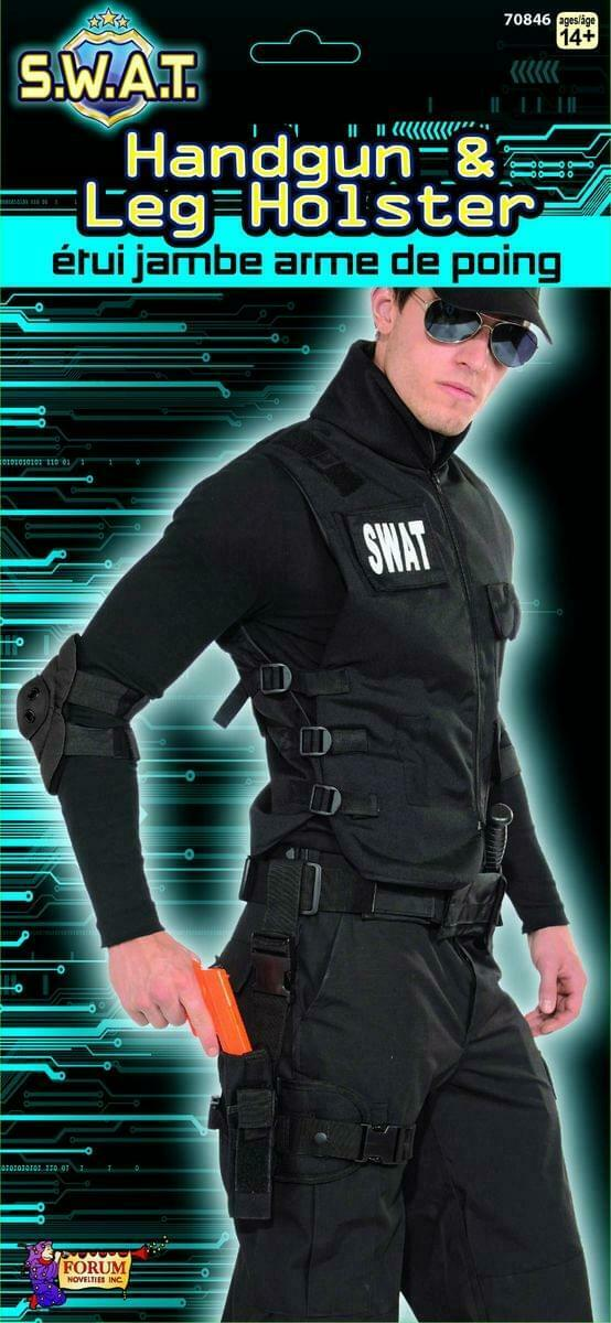 S.W.A.T. Costume Leg Holster Set Adult One Size