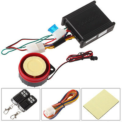 Waterproof Car Motorcycle Anti-theft Security Alarm System Remote Start Stop