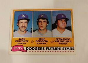 1981 Topps Fernando Venezuela rookie card RC Dodgers baseball card #302 MT
