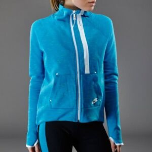 c62053fa948e Nike Women s Tech Fleece Moto Cape Jacket -SMALL (642688-413) BLUE ...