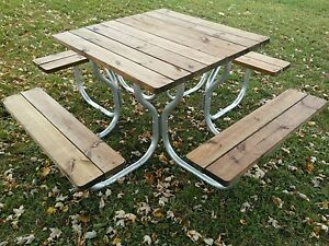 Aluminum Picnic Table Frame With Stainless Steel HardwareRosendale - Stainless steel picnic table