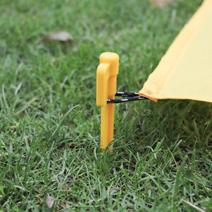 20Pcs Plastic Tent Awning Pegs Nails Sand Ground Stakes Outdoor Camping Caravan