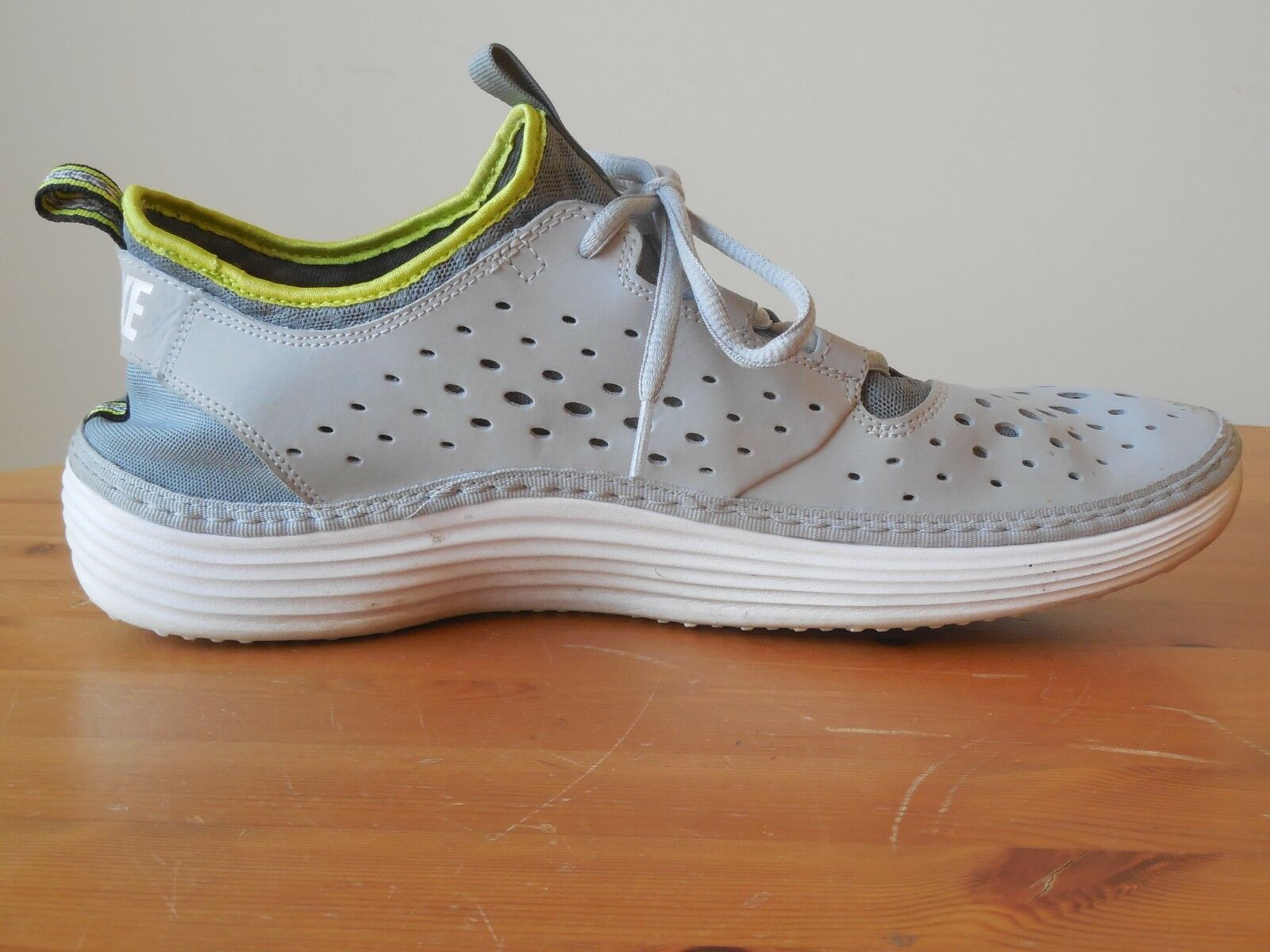 competitive price 238f6 5d14a Nike Solarsoft Moccasin Size 12 Men s White Grey Grey Grey 94db4e