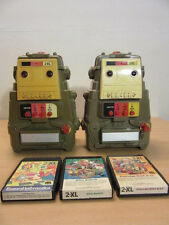 Pair of Mego 1978 2-XL Talking Educational 8 Track Robots with Games/Cassettes