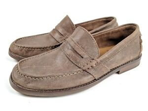 32b8b8a66dc Image is loading Clarks-61768-Nielsen-Brown-Nubuck-Leather-Penny-Loafers-