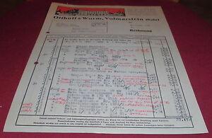 Ruhrtop Karte.Details Zu Rechnung Beleg Waren Otthoff Wurm Volmarstein Ruhr Top Deko Alt 1950 Papier