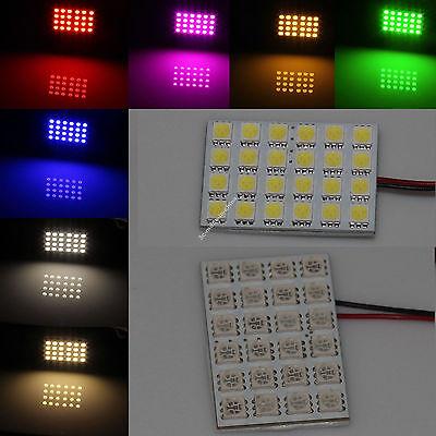 10X 24 5050 SMD Box Door Dome Car LED Light Panel Interior T10 Festoon Bulb 12V