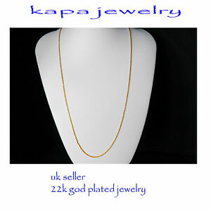Mens Jewellery 22k Gold Plated Necklace for Men or Women Chain Indian gold a11a - London, United Kingdom - If there is problem with the item contact us by email kapadia59@hotmail.com returns are only accepted if sent in the same condition sent. NOTE BUYER PAYS FOR RETURN POSTAGE Most purchases from business sellers are protected by the - London, United Kingdom
