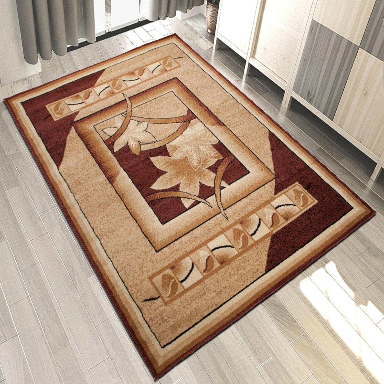 TOP TOP TOP Moderner Wohnzimmer Teppich Teppiche Design mit Blaumenmuster in braun Beige | New Listing  ae1cb0