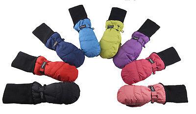 4-8 Years Grey SnowStoppers Kids Waterproof Stay On Winter Fleece Mittens Large