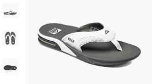 Reef-Fanning-Grey-White-Sandal-Comfort-Flip-Flop-Men-039-s-US-sizes-7-17-NEW