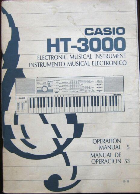 casio ht 3000 manual