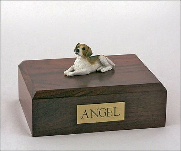 Beagle Pet Funeral Cremation Urn, Engraved. Available 3 Different Colors 4 Sizes