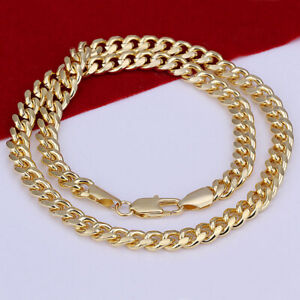 Chain-Gold-Rope-Yellow-Necklace-Diamond-Cut-Pendant-1mm-14K-Gold-Plated-ITALY