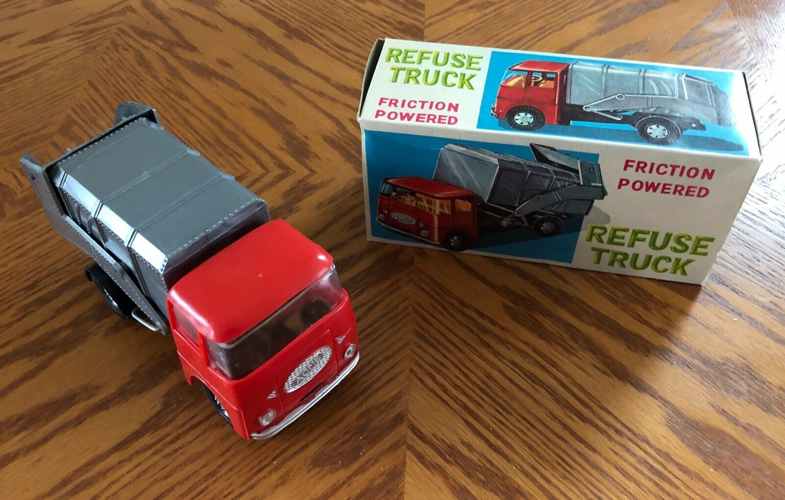 New in Box Vintage ACME (USA) plastique Friction Power refusent (Déchets déchets Trash) camion