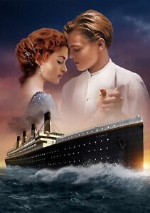 TITANIC-Movie-PHOTO-Print-POSTER-Film-Art-Leonardo-DiCaprio-Kate-Winslet-001