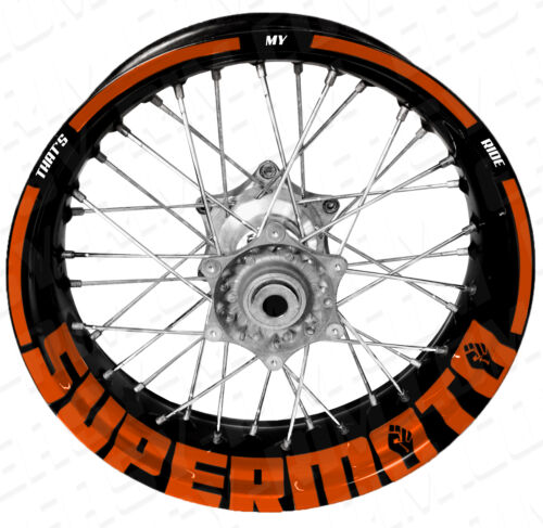 Supermoto TMR orange KTM,Husqvarna,Suzuki Motorrad Felgenaufkleber Aufkleber