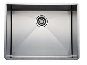 Rohl RSS2418 SB Brushed Stainless Steel Kitchen Sink with Tangent ...