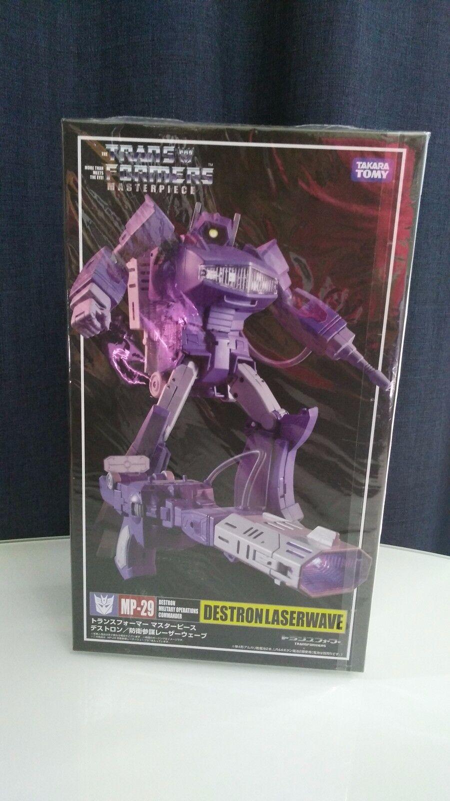nueva marca Transformers Masterpiece MP29 LaserWave y en caja sellada sellada sellada con moneda  tiendas minoristas