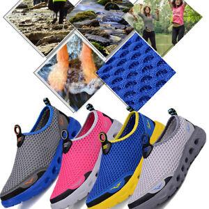 Men Women Mesh Water Shoes Quick Drying Slip Rubble Sole River Trekking Beach