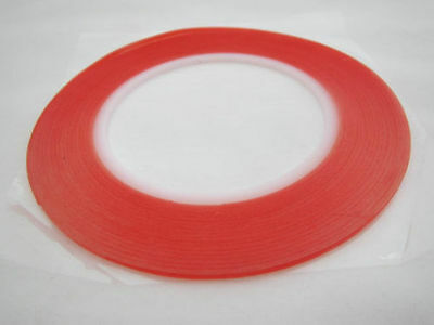 2mm*25m*3m Red Film transparent VHB Double side adhensive tape high Temperature