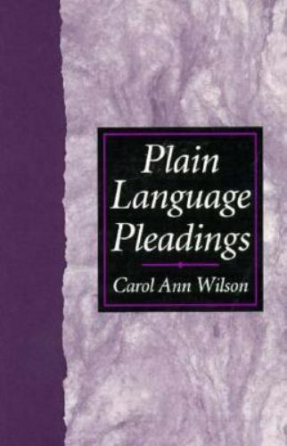 Plain Language Pleadings