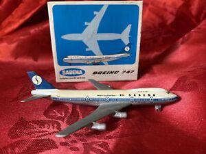 Schabak Diecast Boeing 747 - Sabena  - Belgian World Airlines 1:600 - 901/6