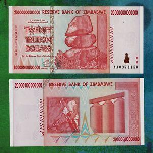 Image Is Loading 20 Trillion Zimbabwe Dollars Bank Note Aa 2008
