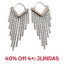 Isabel Marant Silver Tone Brass Freak Out Crystal Earrings, 40% Off 4+: JLINDAS