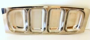 AS-Arthur-Salm-Sweden-4-Section-Dish-Tray-Stainless-Steel-15-034-x-6-034-Mid-Mod-EUC