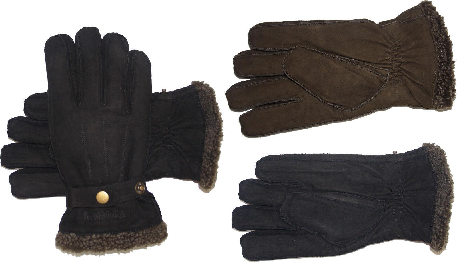 Lederhandschuhe Handschuhe echt Leder Leder echt mit Lederbandschließe LAKOTA 47dae0
