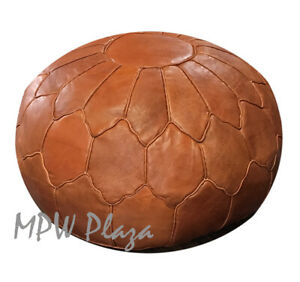 Brilliant Details About Pouf Ottoman Retro Shell Mpw Plaza Rustic Brown Stuffed L Moroccan Leather Short Links Chair Design For Home Short Linksinfo