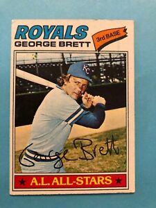 1977-Topps-Baseball-Card-580-A-L-All-Star-George-Brett-Kansas-City-Royals-HOF