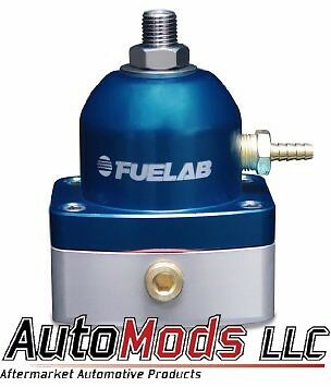 Fuelab Fuel Pressure Regulator adjustable FPR 6 in out Fuel Lab Blue 51502