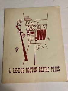 Vintage Mid Century Dinty Moore's A Famous Boston Resturant Menu Ephemera