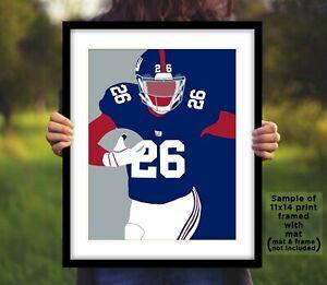 SAQUON-BARKLEY-New-York-Giants-Photo-Art-8x10-or-11x14-NY-Football-Picture-Print