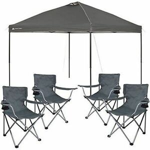 Image is loading 10x10-PopUp-Tent-Outdoor-Portable-Shade-Canopy-Tailgate-  sc 1 st  eBay & 10x10 PopUp Tent Outdoor Portable Shade Canopy Tailgate Shelter 4 ...